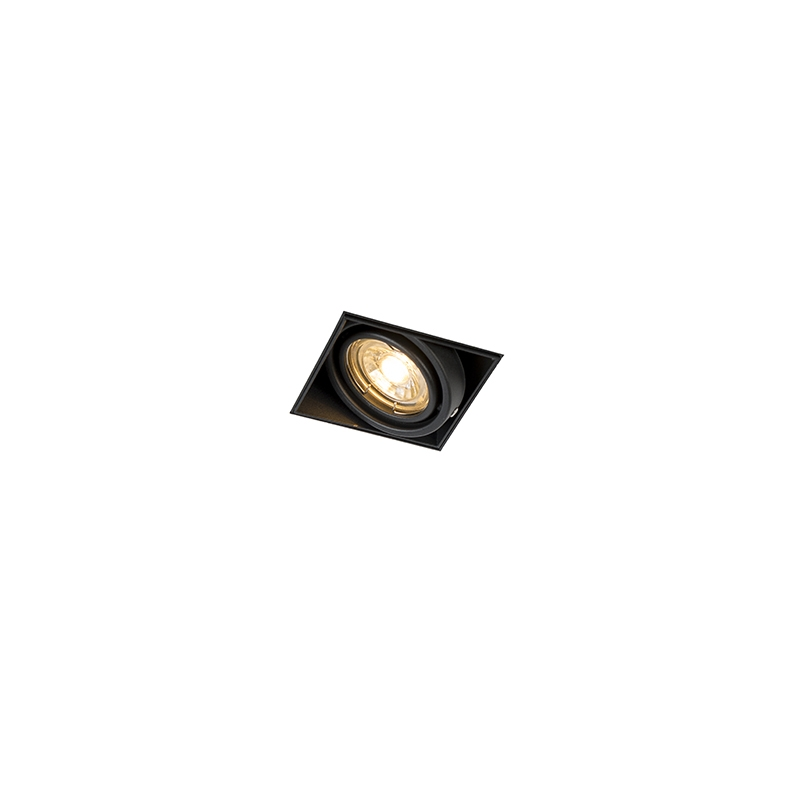 Inbouwspot zwart draai- en kantelbaar trimless - Oneon 1