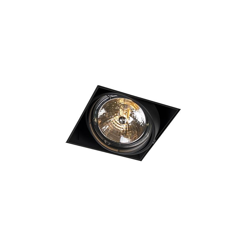 Inbouwspot zwart AR111 draai- en kantelbaar trimless - Oneon