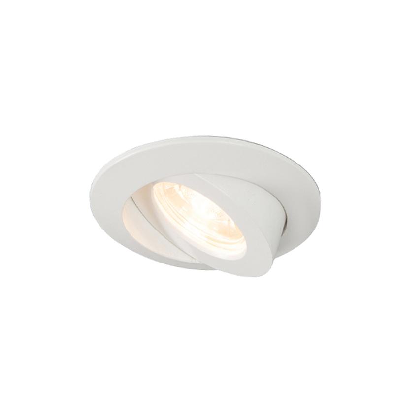Set van 3 inbouwspots wit incl. LED IP44 - Relax LED