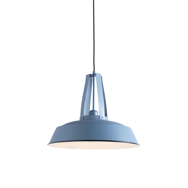 Vintage hanglamp blauw 43 cm - Living