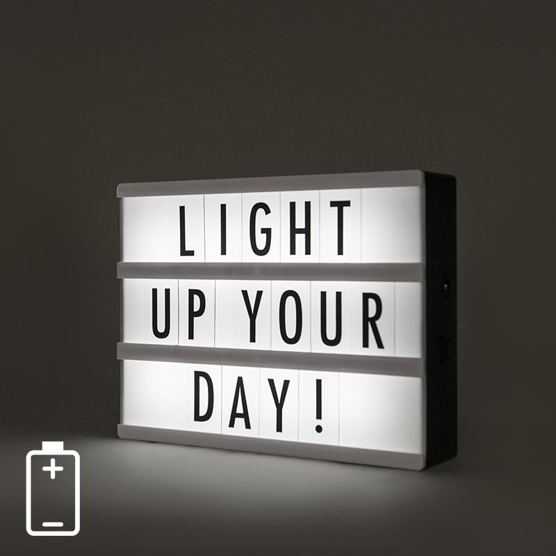 LED Lightbox A5 incl. 85 letters en symbolen