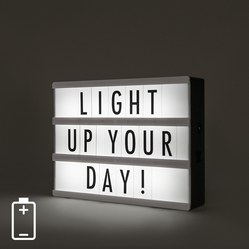 Wand- en tafellamp incl. LED - Lightbox A5