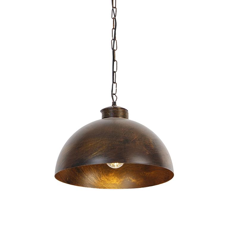 Industriële hanglamp roestbruin 35 cm - Magna Classic
