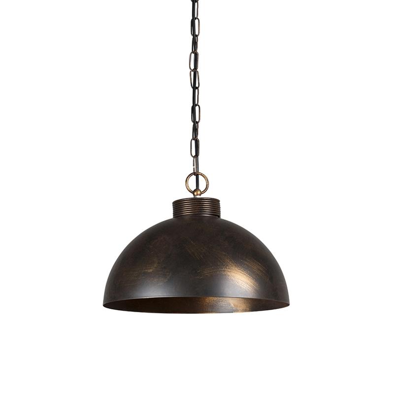 Przemysłowa lampa wisząca brąz 35cm - Magna Classic