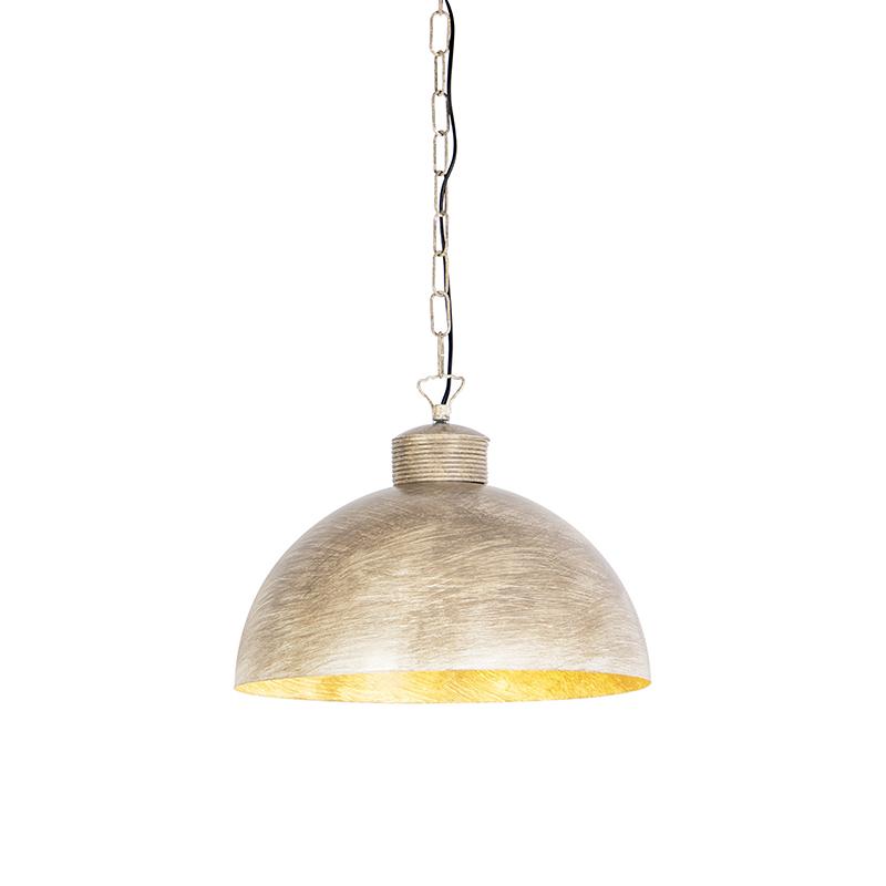 Przemysłowa lampa wisząca szarobrązowa 35cm - Magna Classic