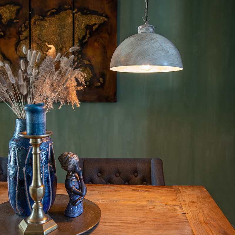 Industriële hanglamp taupe 35 cm - Magna Classic