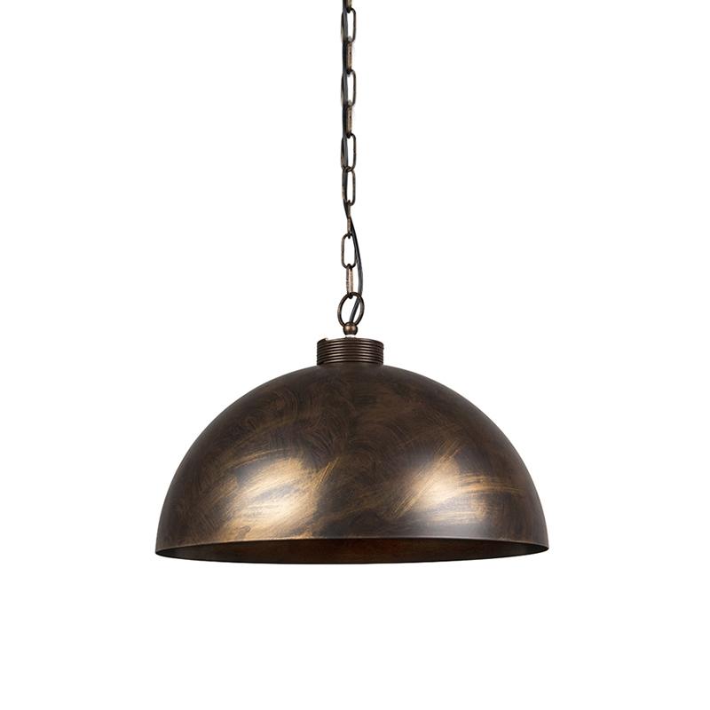 Przemysłowa lampa wisząca brąz 50cm - Magna Classic