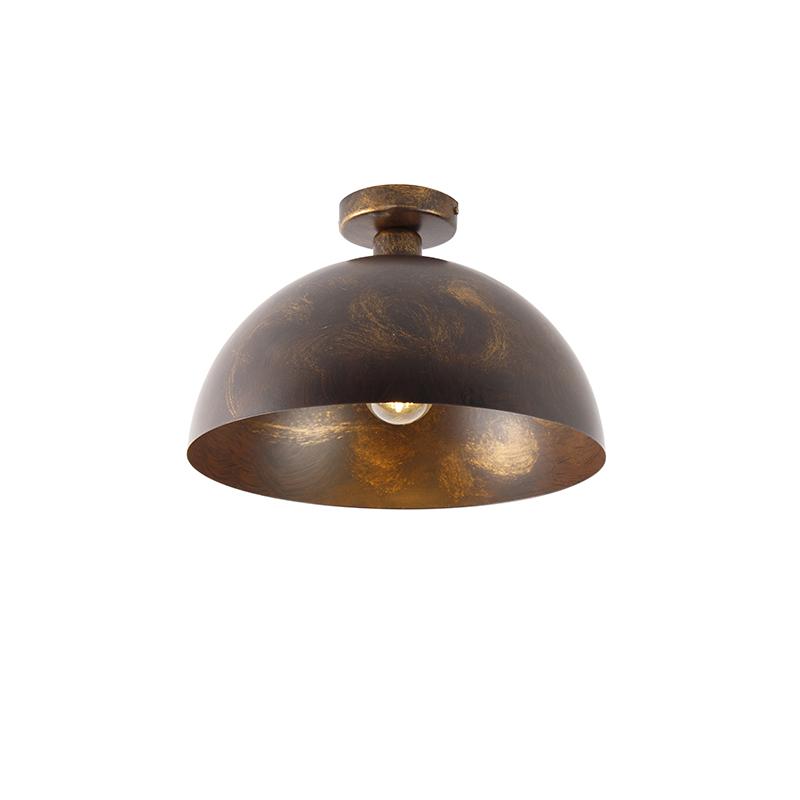 Industriële plafondlamp roestbruin 35 cm - Magna Classic