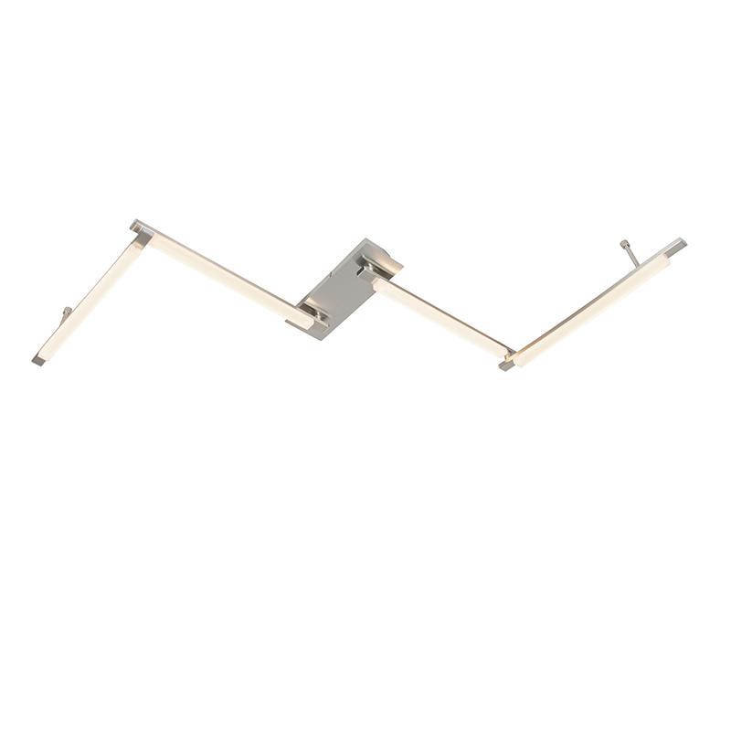 Plafondlamp Krina LED staal