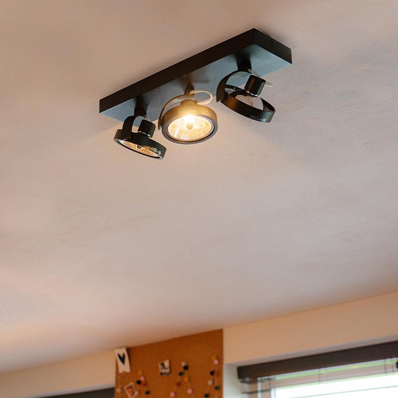 Design spot zwart verstelbaar 3-lichts incl. 3 x G9 - Go