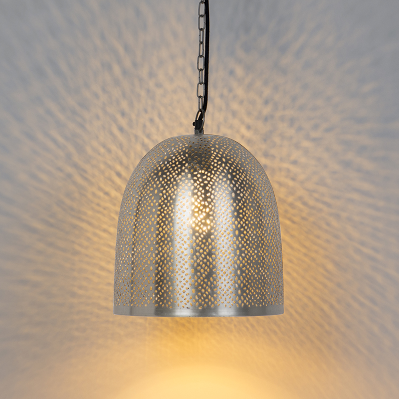 Oosterse hanglamp staal - Sinbad 3