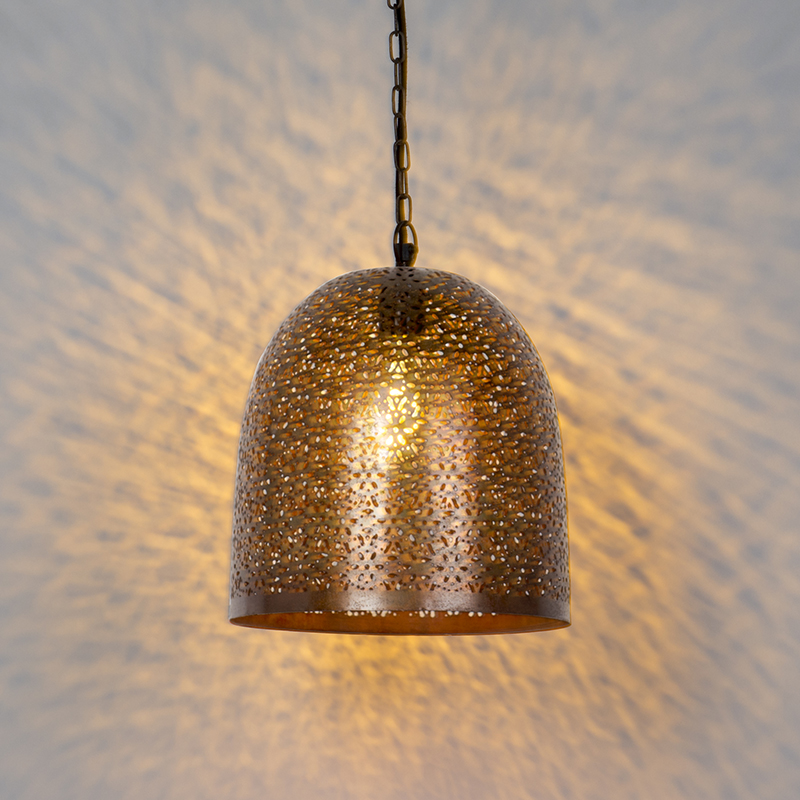 Oosterse hanglamp koper - Maruf 3