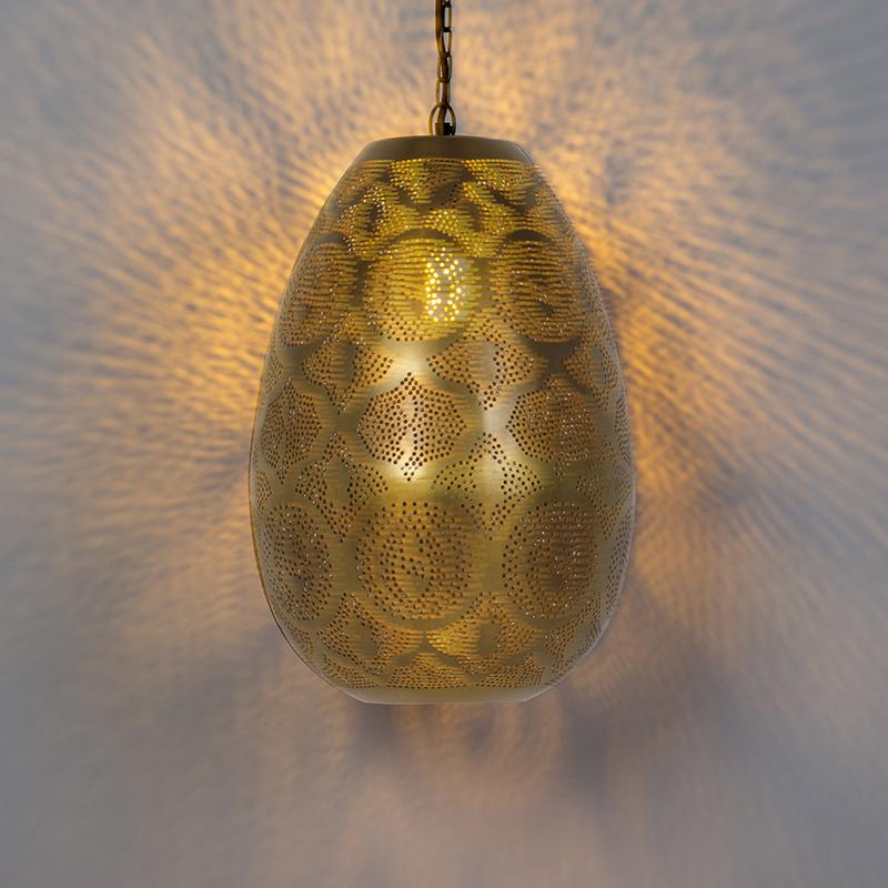 Oosterse hanglamp goud - Zayn 1