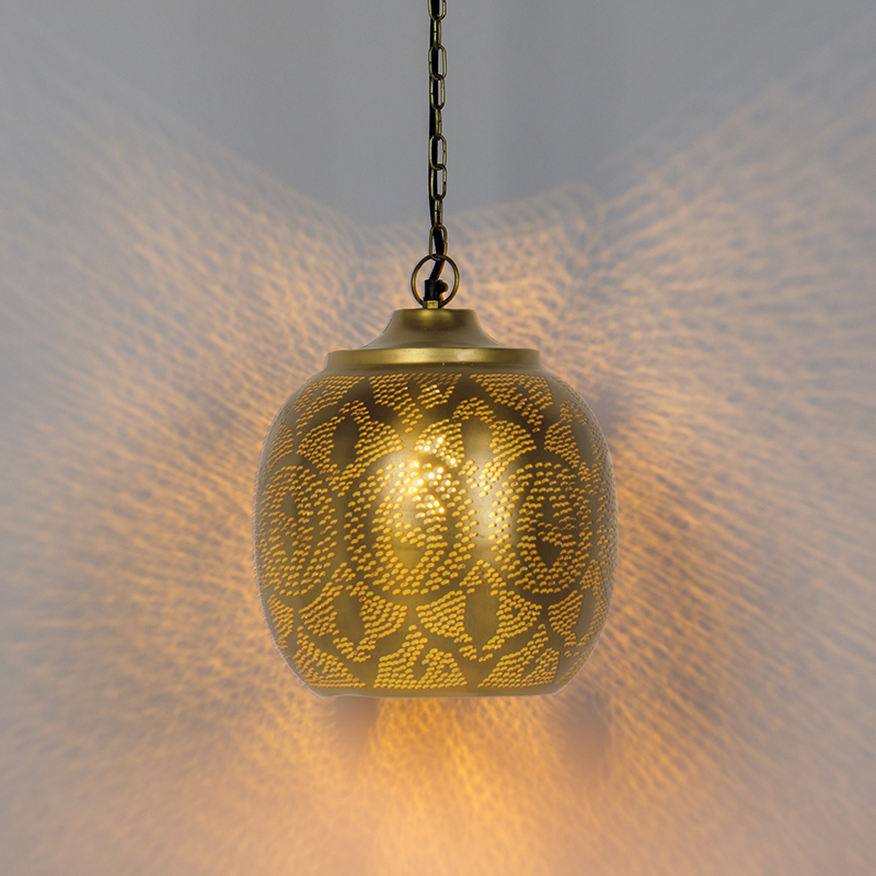 Oosterse hanglamp goud - Zayn 4