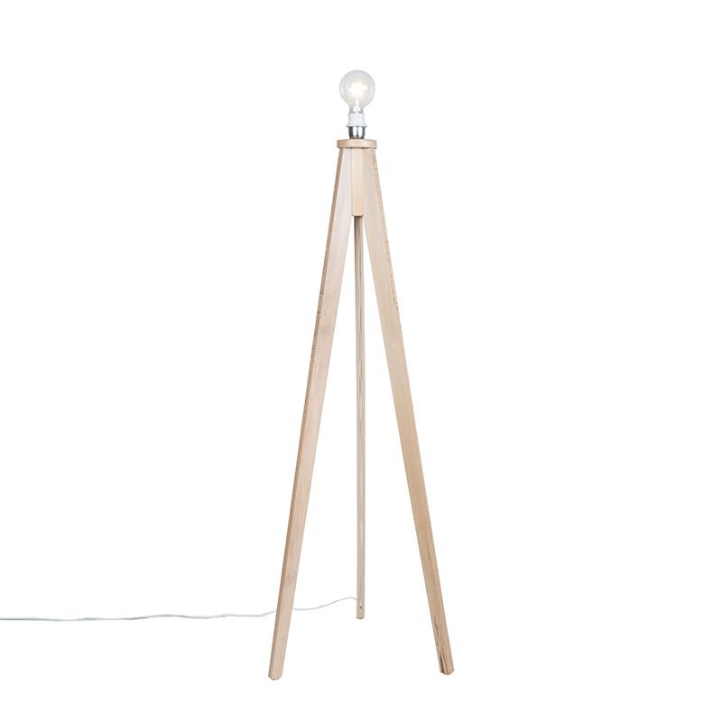 Vloerlamp Tripod Classic blank hout