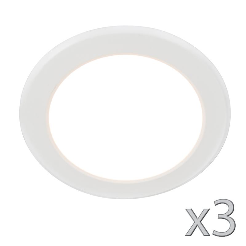 Set van 3 Inbouwspot Unit 12W wit