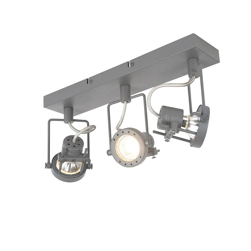 Przemysłowy spot regulowany antracyt 3-źródła światła - Suplux