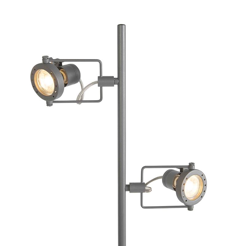 Przemysłowa lampa stojąca antracyt 2-źródła światła - Suplux
