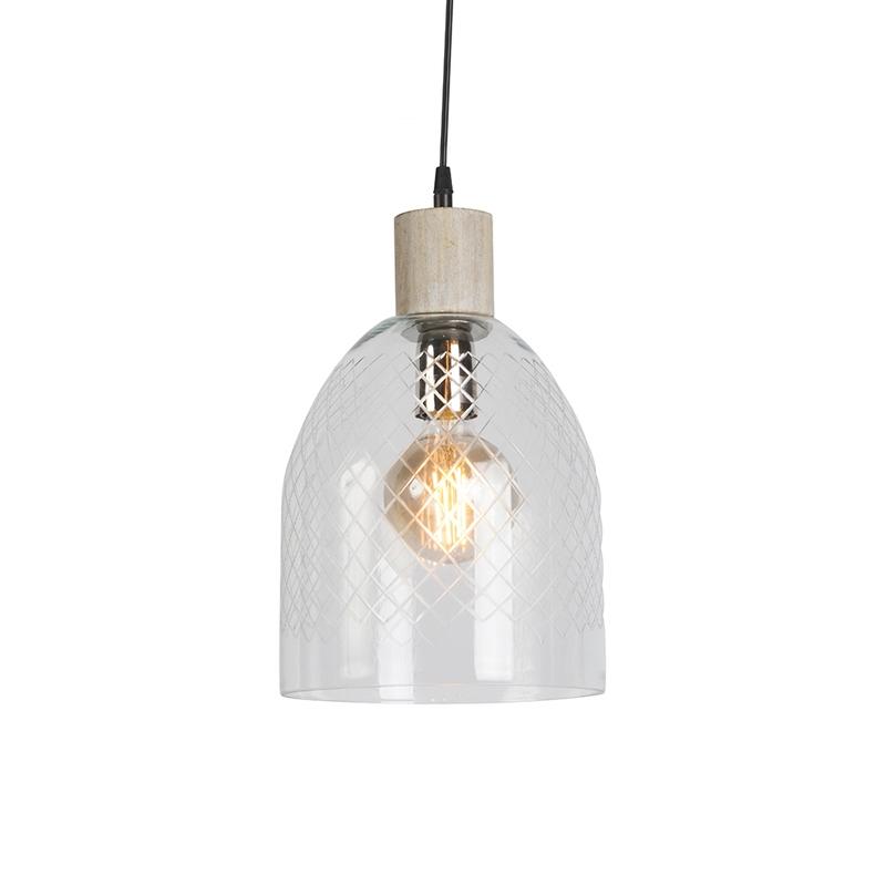 Hanglamp Agha helder glas