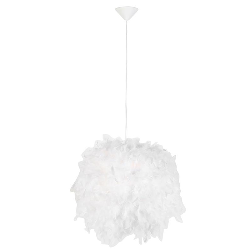 Landelijke hanglamp wit Feather