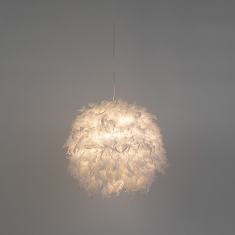 Hanglamp Feather 50 wit