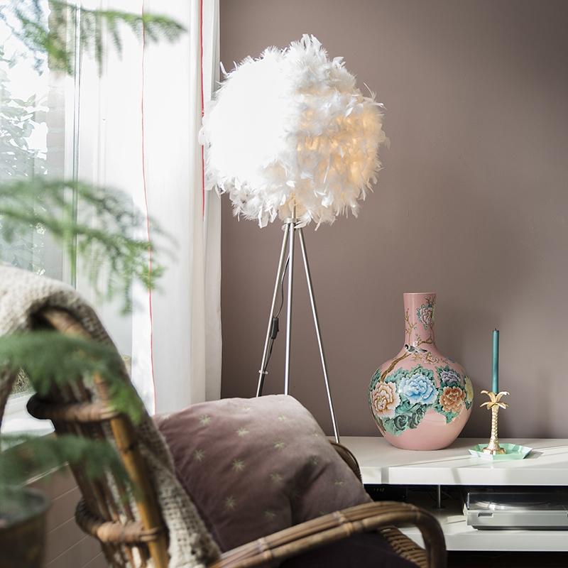Romantische vloerlamp wit - Feather