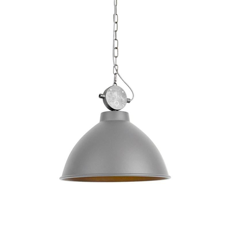 Landelijke hanglamp grijs - Anterio 38