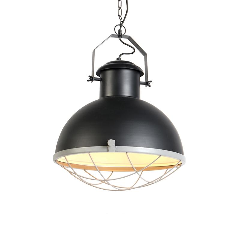 Przemysłowa lampa wisząca czarna z szarym - Silnik