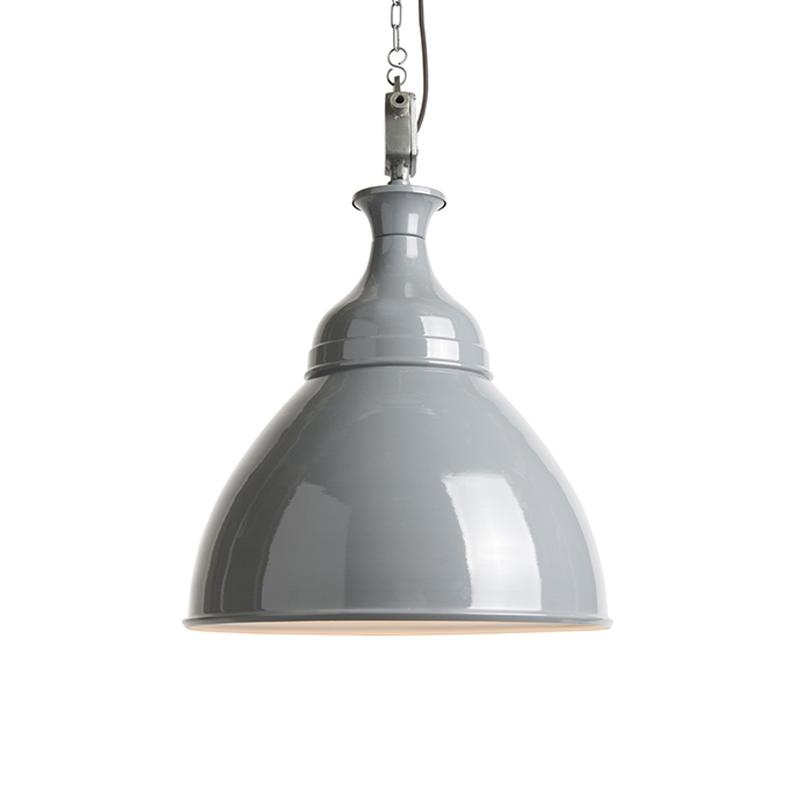 Industriële hanglamp grijs met wit - Bob