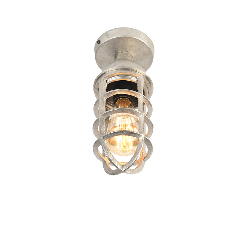 Industriele Plafondlamp Nikkel - Torra