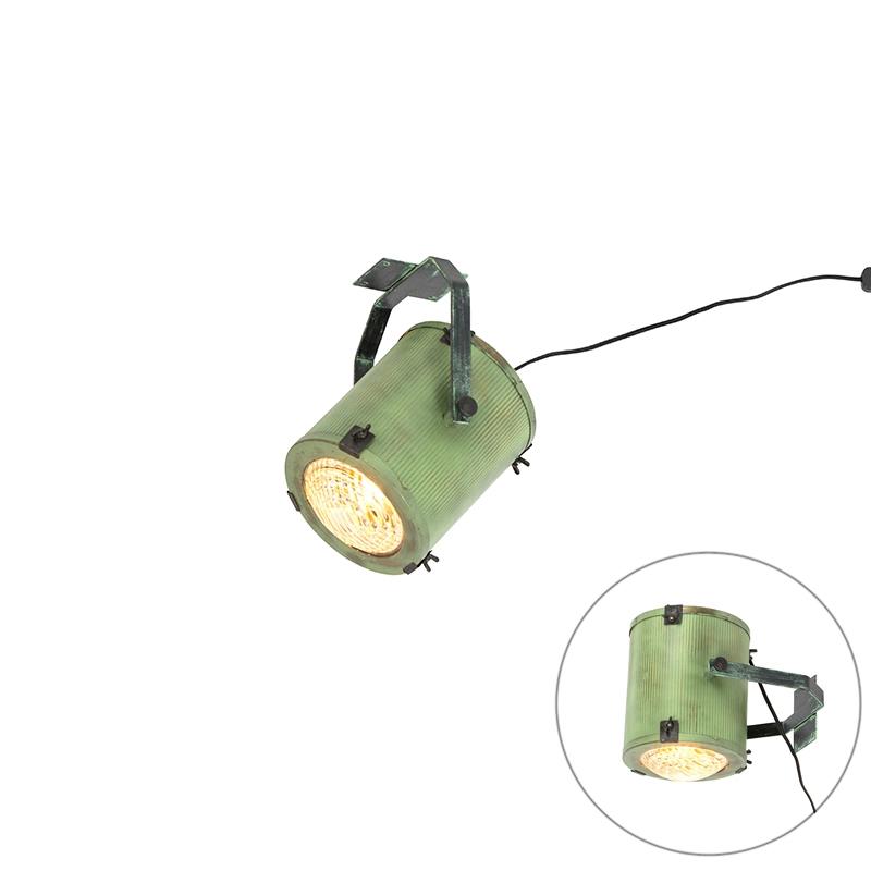 Vintage filmspot wand- en plafondlamp groen - Brooke