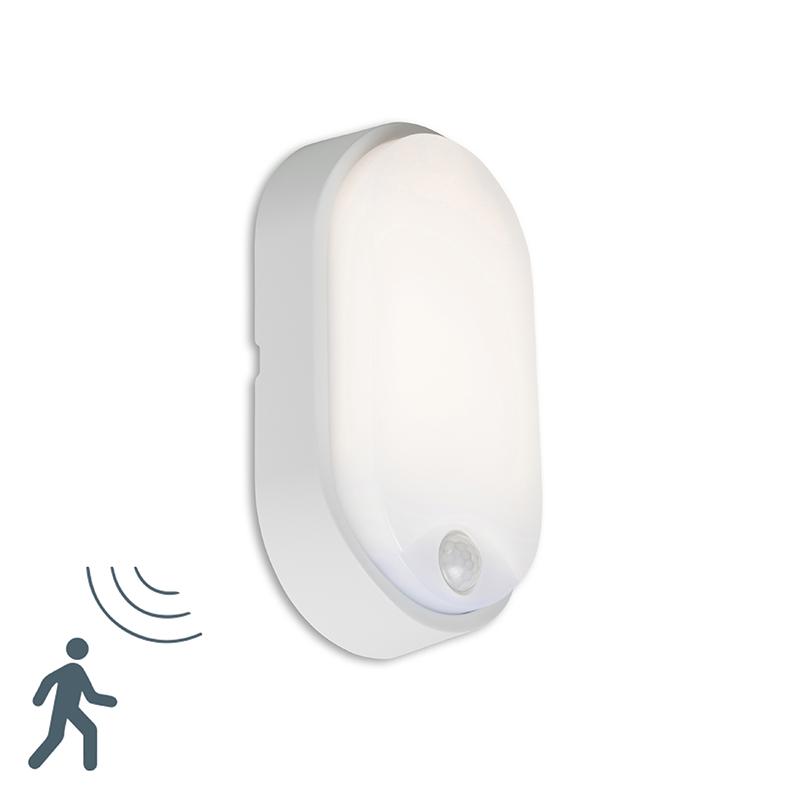 Buitenlamp Hortus Wand LED PIR sensor IP54 ovaal grijs