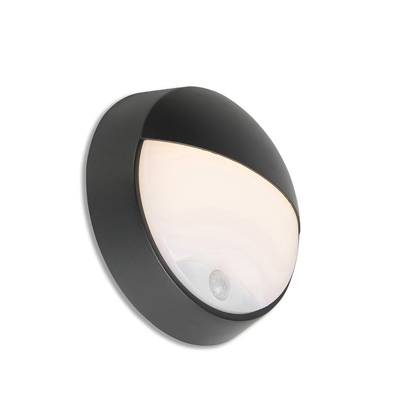 Buitenwandlamp zwart incl. LED met bewegingssensor IP54 - Hortus