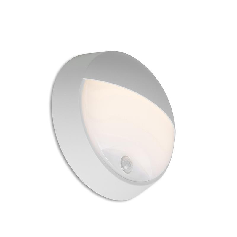 Buitenwandlamp grijs incl. LED met bewegingssensor IP54 - Hortus
