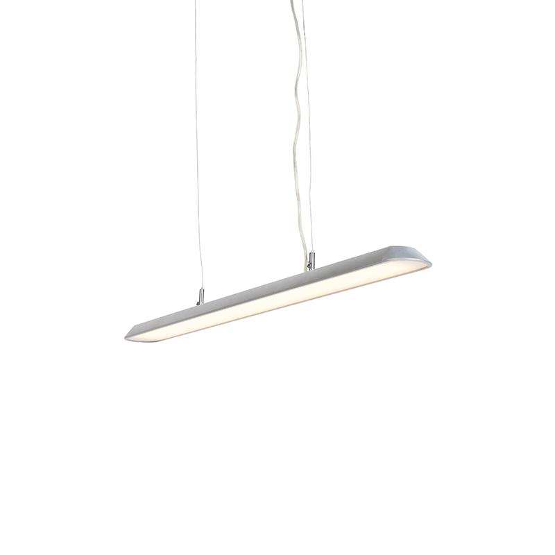 Moderne langwerpige hanglamp zilver 100cm incl. LED - Duct S