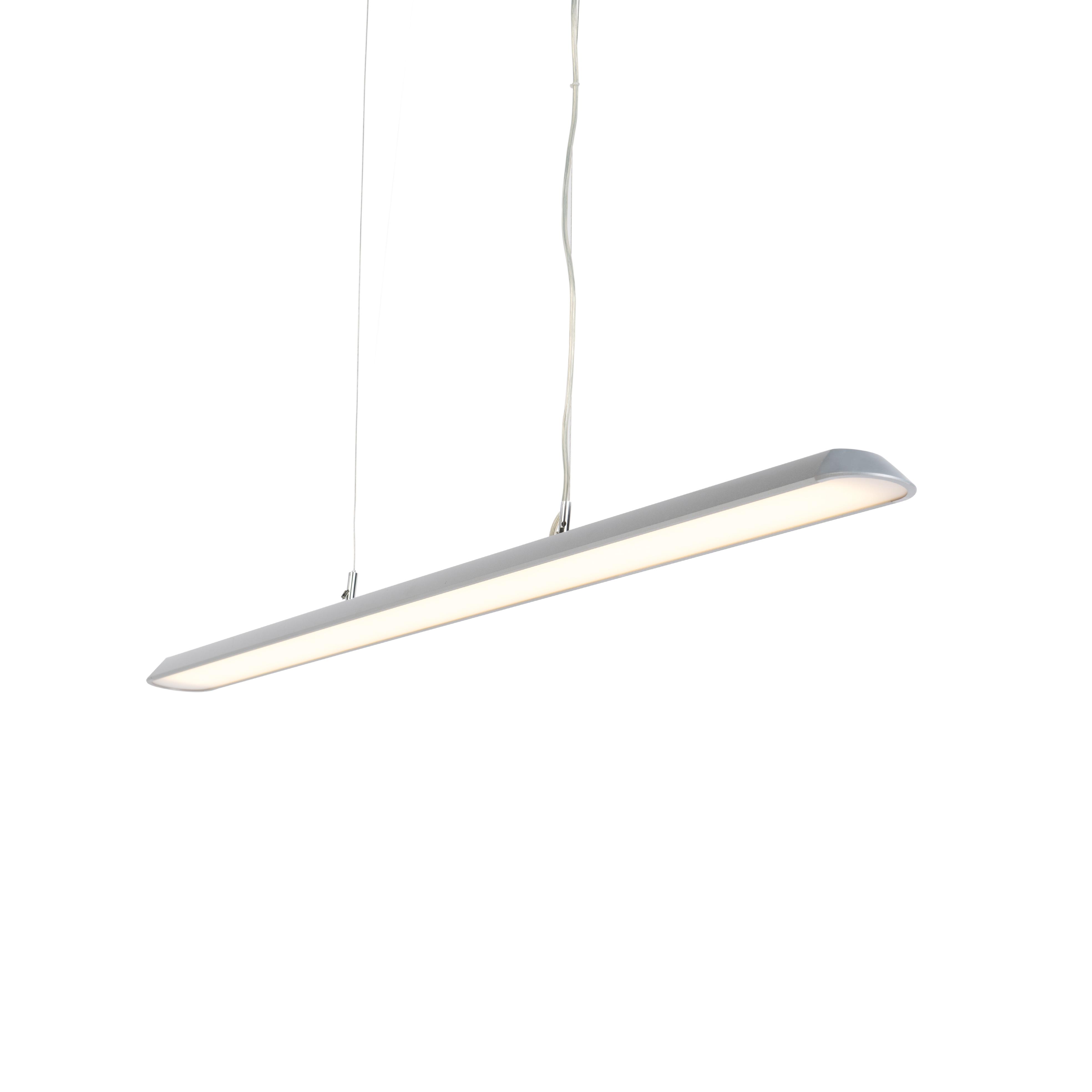 Moderne langwerpige hanglamp zilver 130cm incl. LED - Duct S
