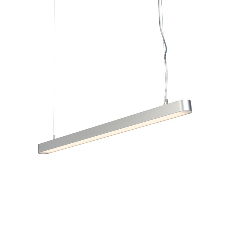 Moderne langwerpige hanglamp zilver 100cm incl. LED - Duct R