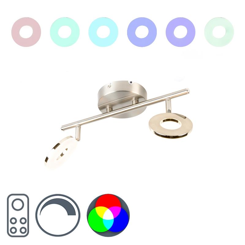 Moderne spot staal met RGBW functie 2-lichts - Chief