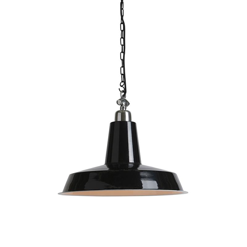 Przemysłowa lampa wisząca czarna - Warrior