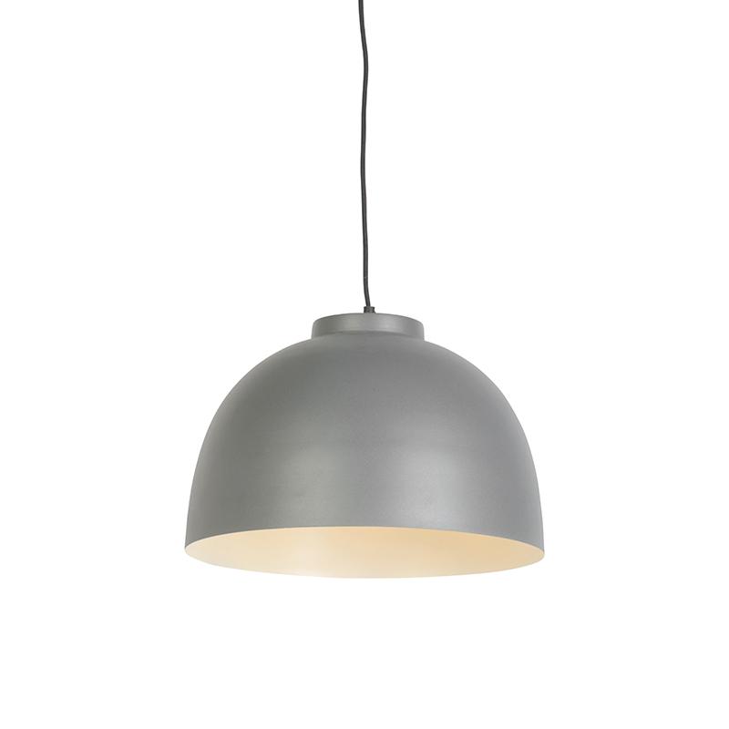 Skandynawska lampa wisząca szara 40 cm - Hoodi