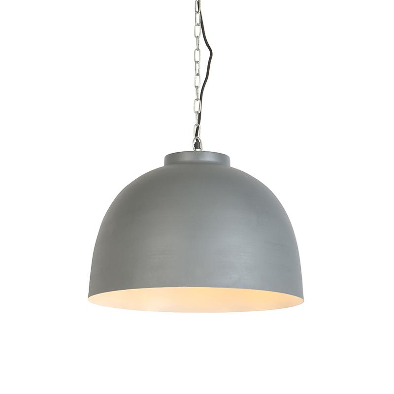 Industriele Hanglamp 45.5cm Grijs Met Witte Binnenkant - Hoodi