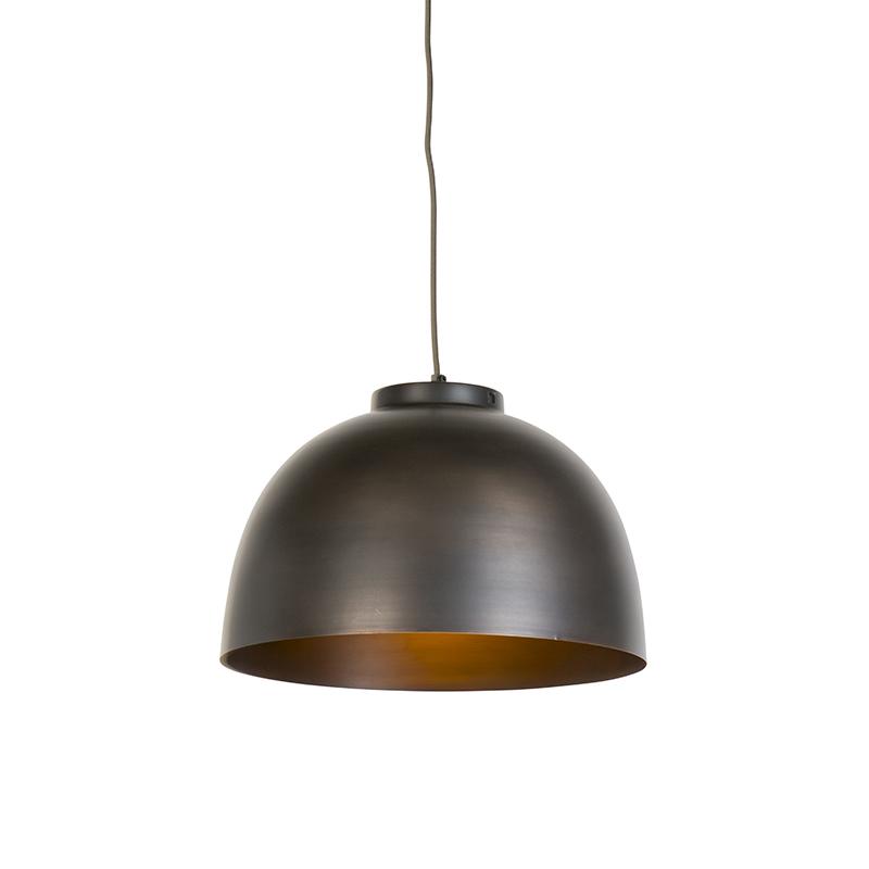 Przemysłowa lampa wisząca brązowa 40 cm - Hoodi