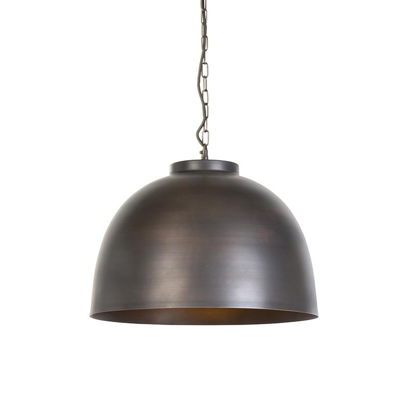 Przemysłowa lampa wisząca brązowa 45,5 cm - Hoodi