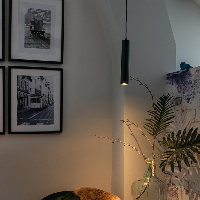 Design hanglamp zwart - Tuba small