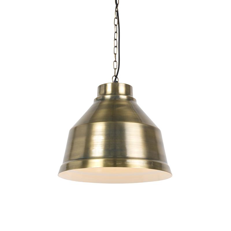 Industriele hanglamp brons - Next