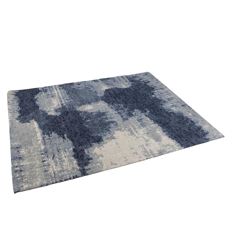 Vintage rechthoekig vloerkleed blauw 160 x 230cm - Puri