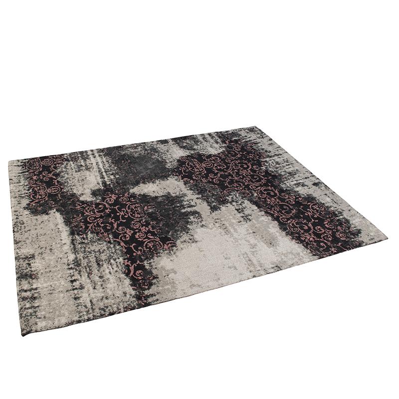 Vintage rechthoekig vloerkleed zwart/roze 160 x 230cm - Puri