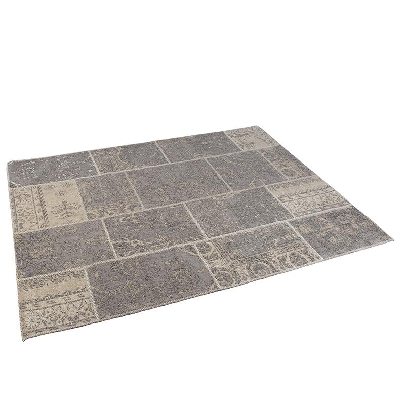 Vintage rechthoekig vloerkleed grijs 160 x 230cm - Agra