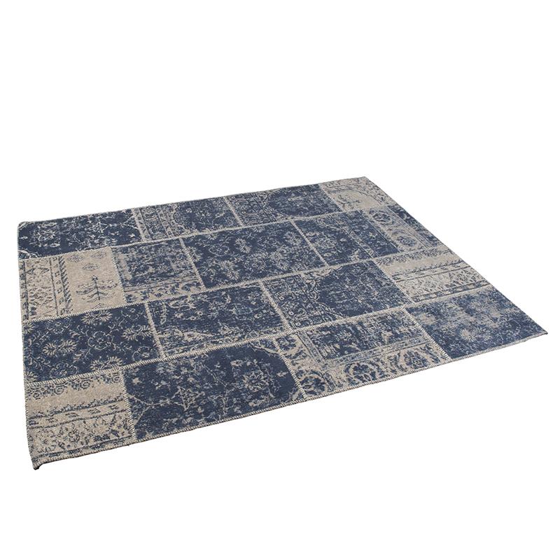 Vintage rechthoekig vloerkleed blauw 160 x 230cm - Agra