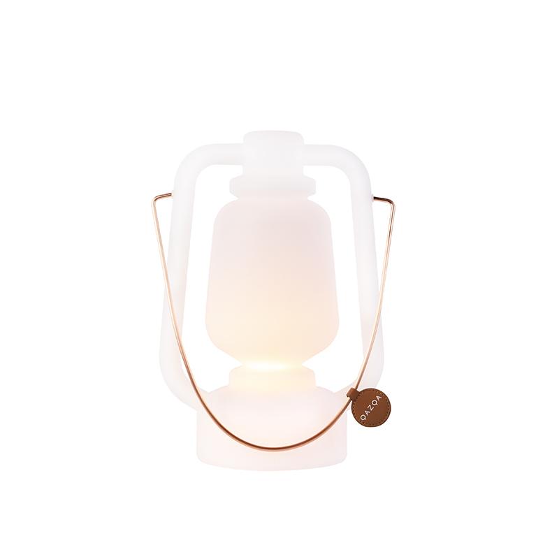 Tafellamp oplaadbaar 30 cm IP44 wit Storm Small
